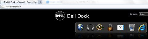 Navigate to the Dell Dock home page