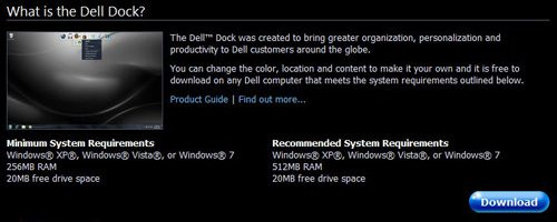 Download the Dell Dock