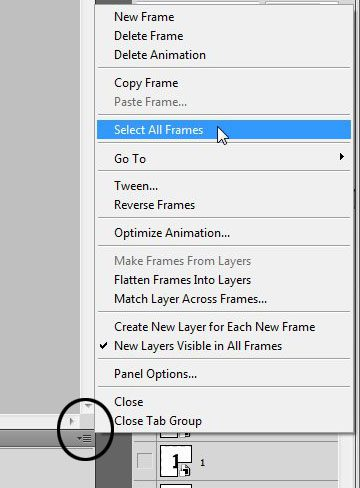 Select all of the frames
