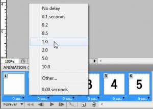 Set the duration for each frame
