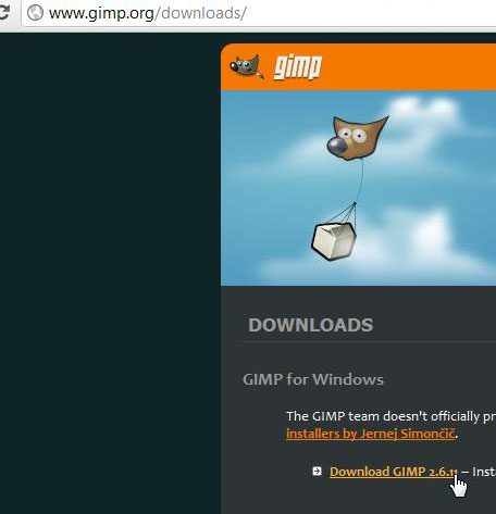 download GIMP