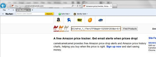 paste the copied Amazon URL
