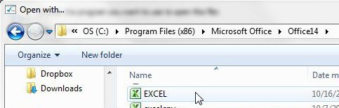 Select Excel as the new XML default
