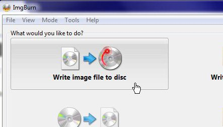 ImgBurn write ISO image file to disc - Burn ISO ImgBurn