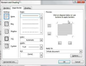 Page Borders for Microsoft Word