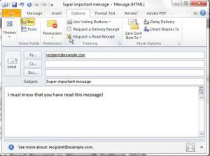 How to Request a Read Receipt in Outlook 2010