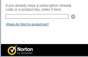 add a license to norton 360 by typing your product key
