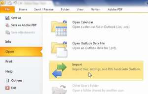 backup outlook 2010 using the import export tool