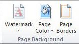 open the borders for word documents menu from the page background section