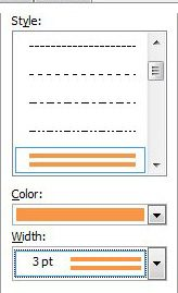 options for paragraph borders for word documents