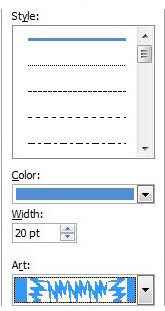 specify the options for your page borders for word documents