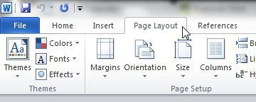 document borders options are on the page layout tab