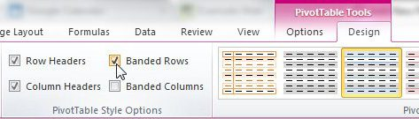 customize the appearance of your pivot table