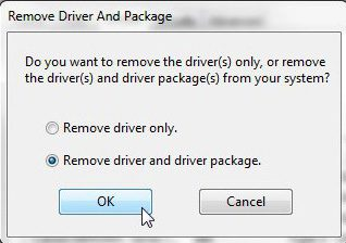 remove old printer drivers and old printer driver packages