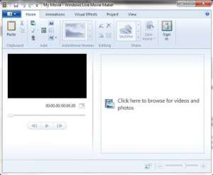 windows 7 video editing interface