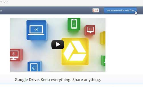getting started with the google drive