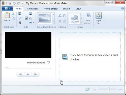 launch windows live movie maker, then choose your video
