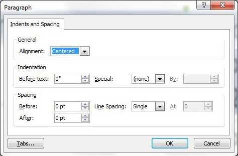 line spacing options menu in powerpoint 2010
