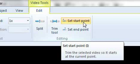 how to cut a clip in windows live movie maker