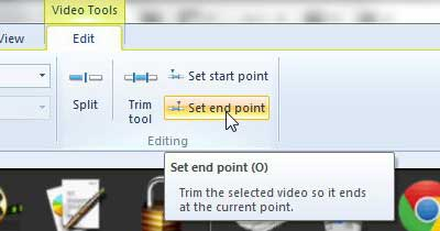 set the end point of your clip