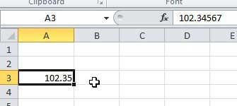 display more decimal places in Excel 2010