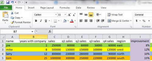 how you fill a cell with color in Excel