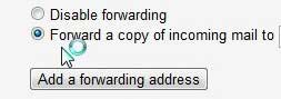 tell gmail to forward messages to the new address