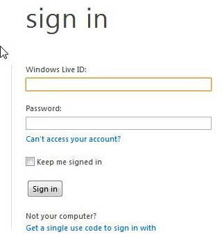 sign into hotmail