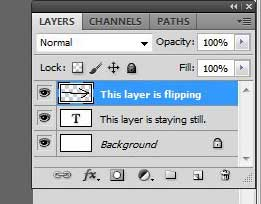 select the layer you want to flip