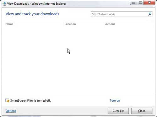 how to open the download folder in internet explorer 9