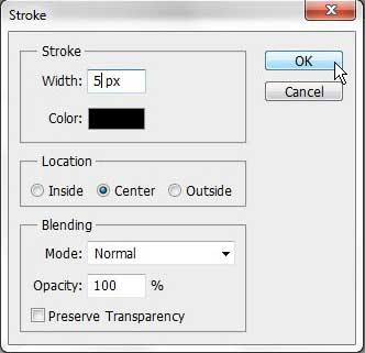 how to outline a selection in photoshop cs5