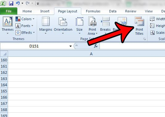 how to get excel rows to repeat at top