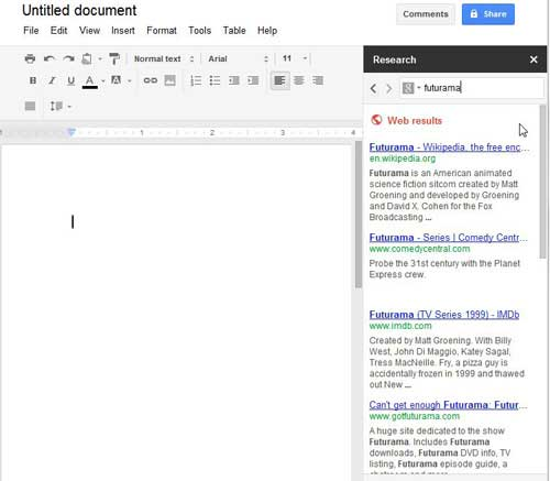 how to search within google docs