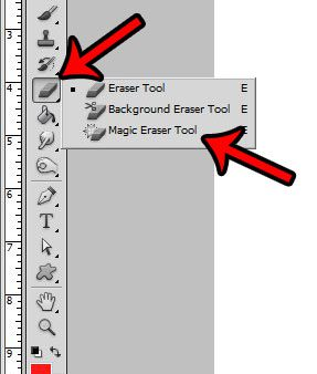 use the magic eraser tool to make a transparent background in Photoshop