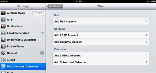 how to set up rcn email on ipad