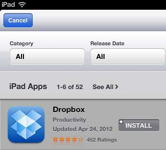 download the dropbox add to your ipad