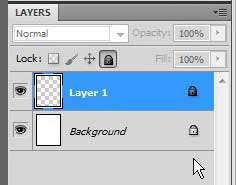example of locked Photoshop CS5 layers