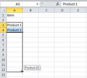 how to automatically number rows in excel 2010