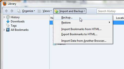 how to backup your bookmarks in firefox