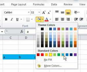 how to change a cell fill color in Excel 2010
