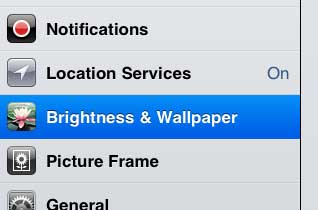 how to change the ipad 2 screen brightness