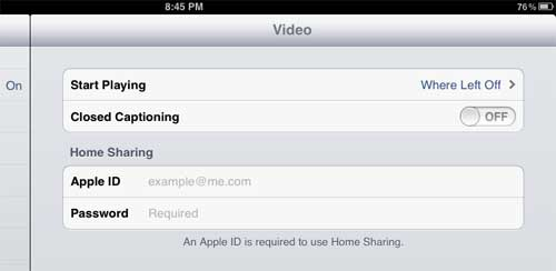 how to turn on closed captioning for video on ipad 2