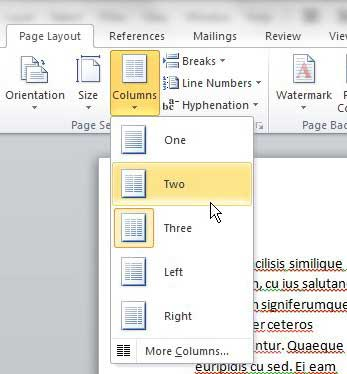 how to delete a column in word 2010