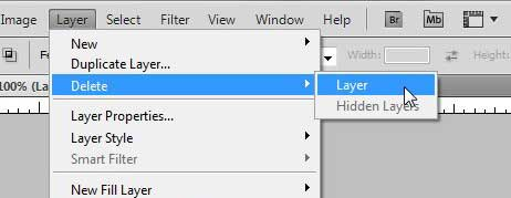 how to delete a layer in photoshop cs5