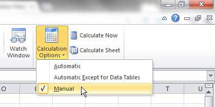 Disable Formula Updates in Excel 2010 - Solve Your Tech