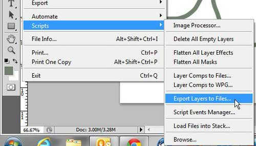 use the export layers as files tool