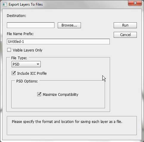 How to Export Layers in Photoshop CS5 as Separate Images