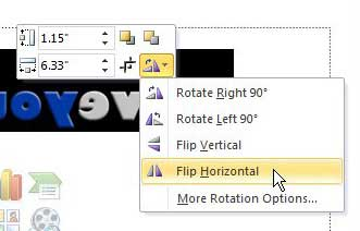 how to flip a picture in powerpoint 2010