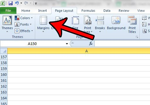 how to use smaller page margins in excel 2010