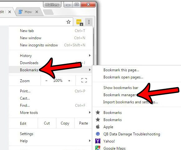 how to remove bookmarks from google chrome